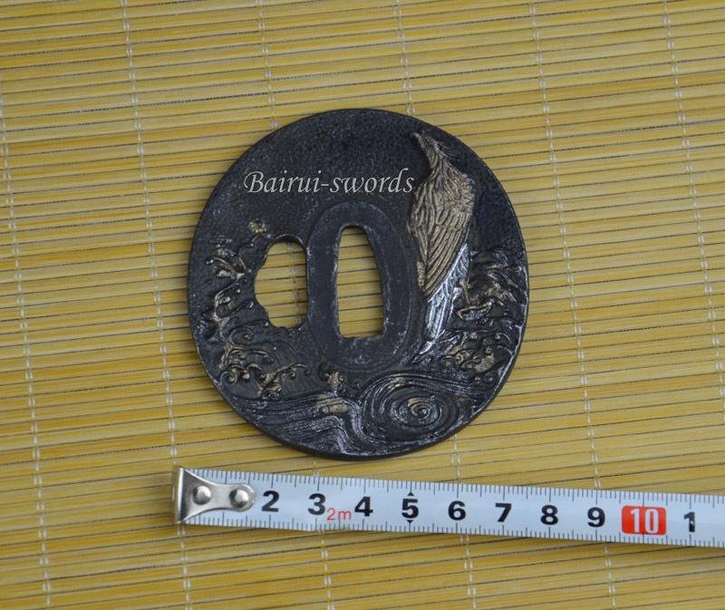 Japanese Katana Birds Tsuba Samurai Sword Fittings