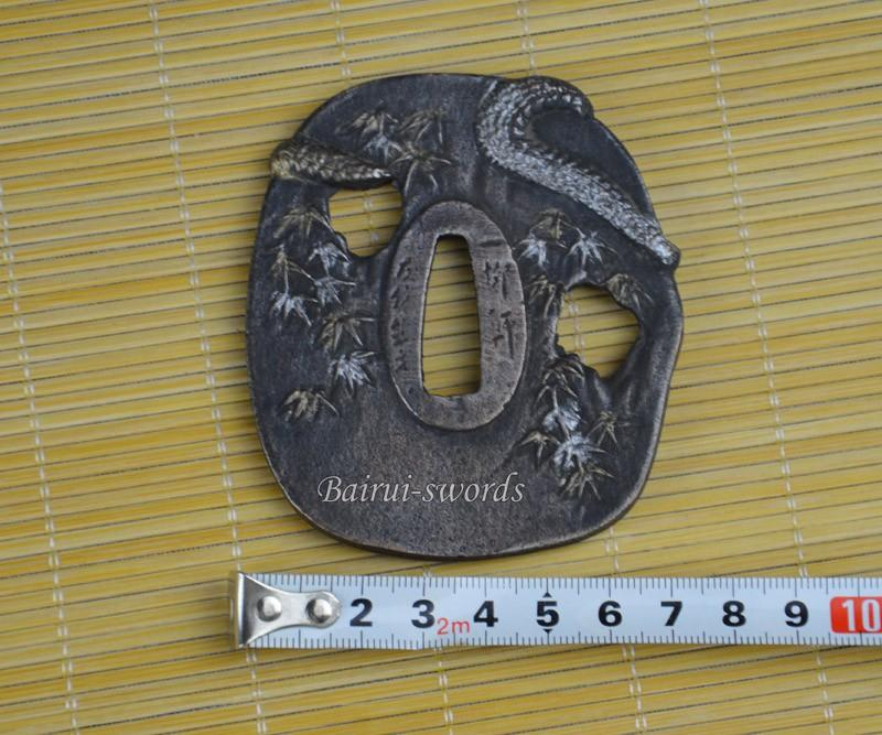New Japanese Katana Tsuba Samurai Sword Alloy Monkey And Dragon Guard Japanese Sword Fittings