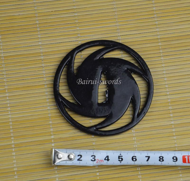 New Japanese Katana Tsuba Samurai Sword Whirlwind Alloy Lotus Guard Japanese Sword Fittings