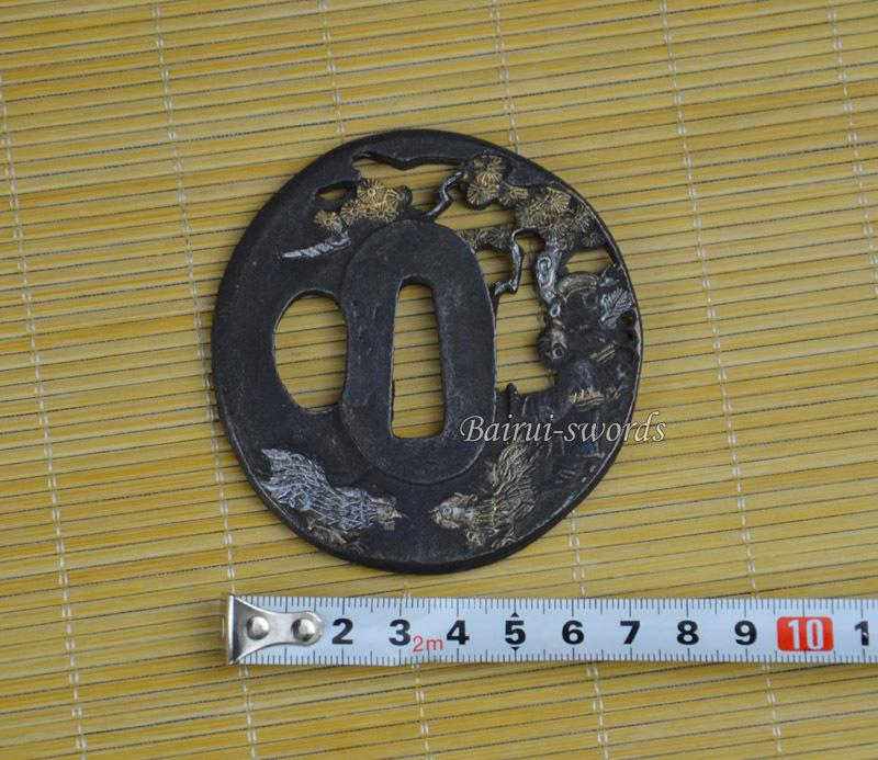New Japanese Katana Tsuba Samurai Sword Alloy Birds Guard Japanese Sword Fittings Worldwide