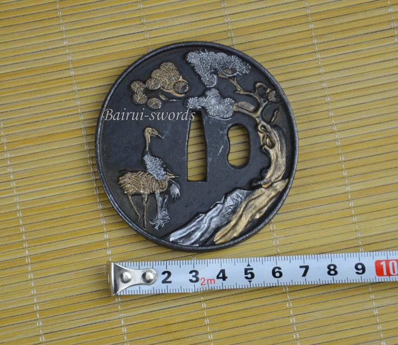 New Japanese Katana Tsuba Samurai Sword Alloy Ostrich Guard Japanese Sword Fittings
