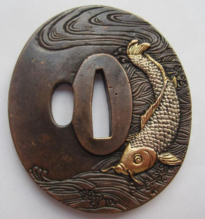 Exquisite Tsuba/Fish,Copper Japanese Samurai Sword