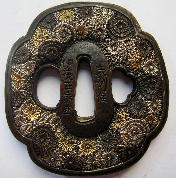 Top Recommended Exquisite Tsuba Flowers Solid Copper Japanese Samurai Sword