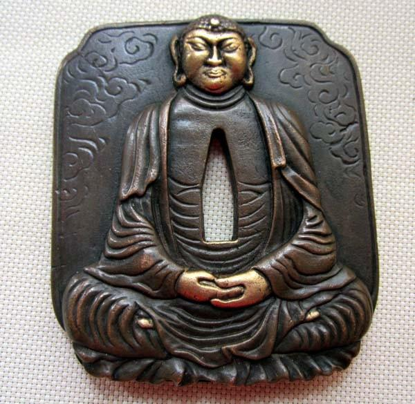 Tsuba/Buddha/Copper Brass,For Japanese Samurai Sword Katana