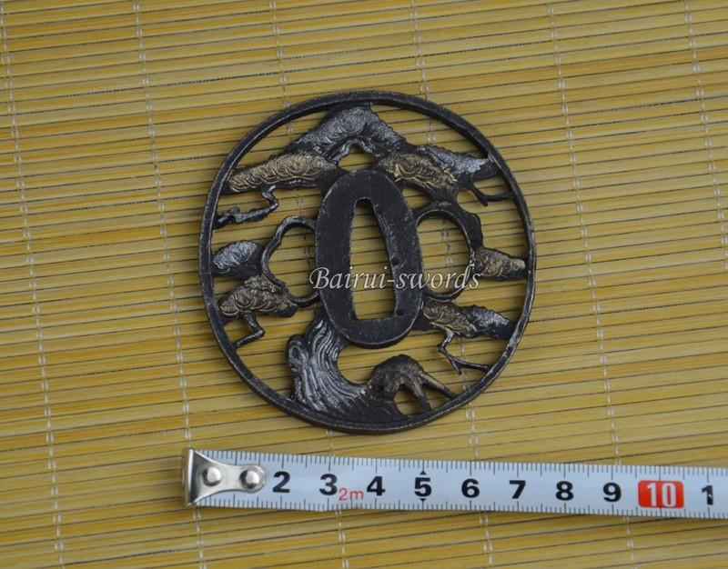 New Japanese Katana Hollow Tsuba Samurai Sword Alloy Guard Japanese Sword Fittings