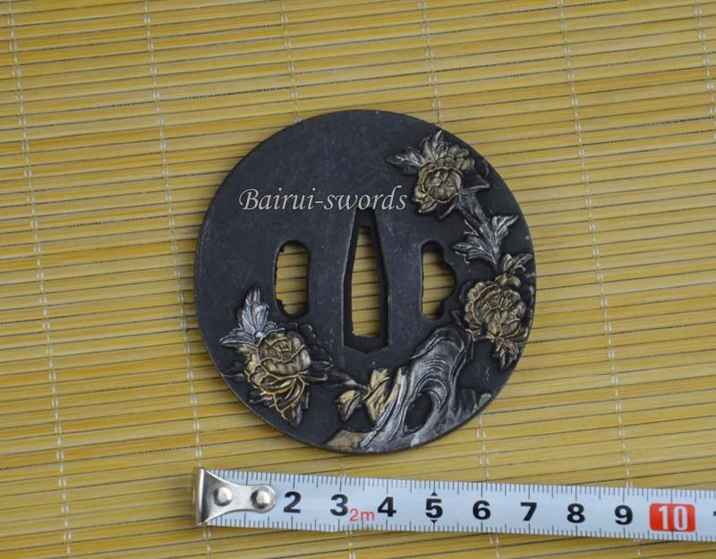 New Japanese Katana Tsuba Samurai Sword Alloy Flower Guard Japanese Sword Fittings