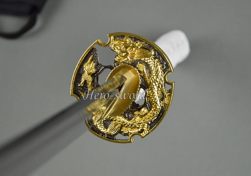 Japanese Katana Alloy Dragon Tsuba Samurai Sword Guard Sword Fitting
