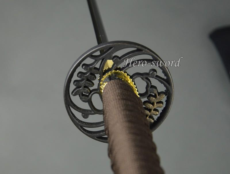 Japanese Katana Water Grass Warrior Tsuba Samurai Sword Guard Sword Fitting