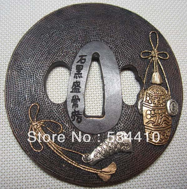 Rare Exquisite Tsuba/Copper Japanese Samurai Sword